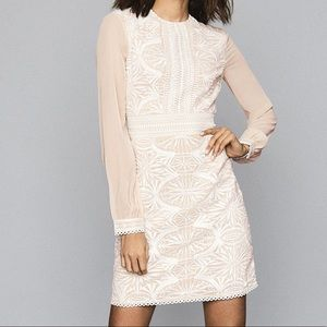 Reiss Aria Long-Sleeve Lace Dress